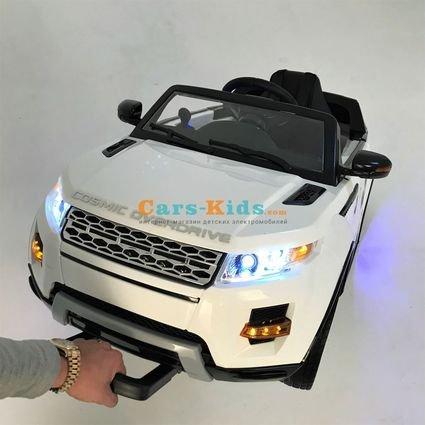 Электромобиль Range Rover Luxury SX118-S MP4 (A111AA VIP) белый (сенсорный дисплей, резина, кожа, пульт, музыка)