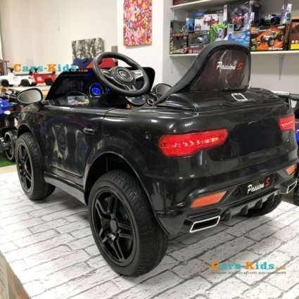 Электромобиль BMW X5 Style 12V - HL-1538 черный (колеса резина, сиденье кожа, пульт, музыка)