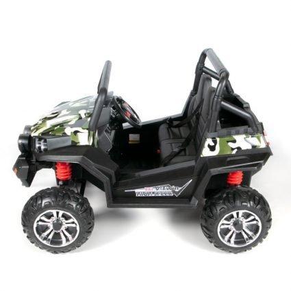 Электромобиль двухместный BUGGY S2588 камуфляж (полный привод, резиновые колеса, кожаное кресло, пульт)