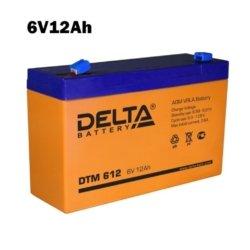Аккумулятор 6V 12AH DELTA DTM