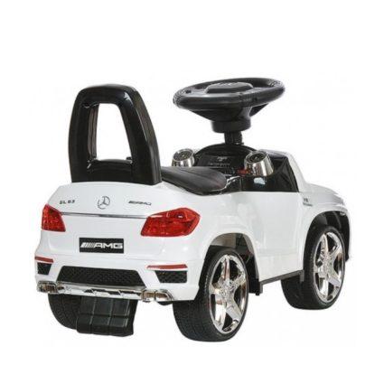 Толокар каталка Mercedes GL63 AMG - SXZ1578-E белый (колеса резина, кресло кожа, музыка, свет)