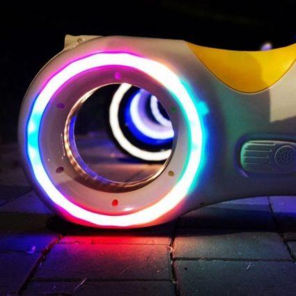 Беговел Star One Scooter - DB002 бело- синий (устойчивые колеса, подсветка, музыка)