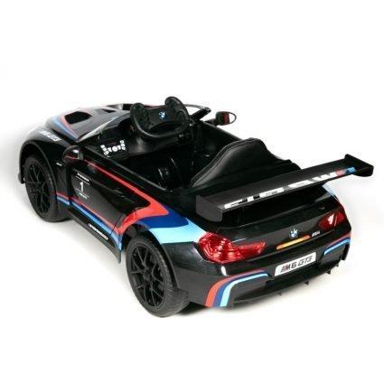 Электромобиль BMW M6 GT3 черный (колеса резина, кресло кожа, пульт, музыка)